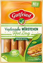 Vegetarische Würstchen Hot Dog